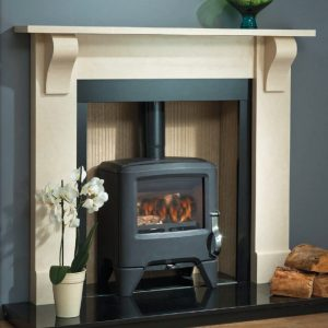 Marble Flames Stove Beam