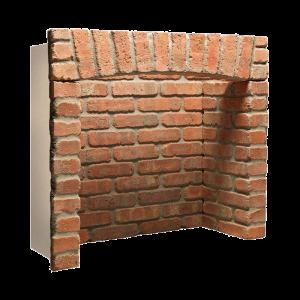 Penman Chamber Rustic Brick Front Returns