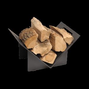 Stovax Black Log Holder – Triangular