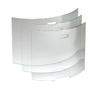 Stovax Glass Curved Fire Screens