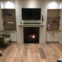 gallery-stove in bookcase